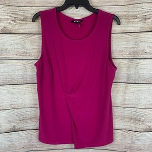 DKNY Hot Pink Ruched Tank Top Size Large